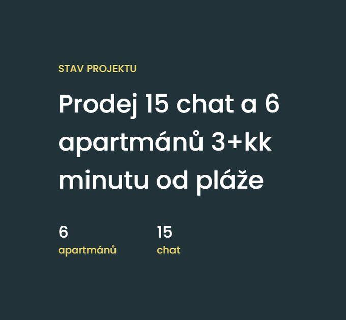 Rezidence Slapy - Prodej 15 chat a 6 apartmánů