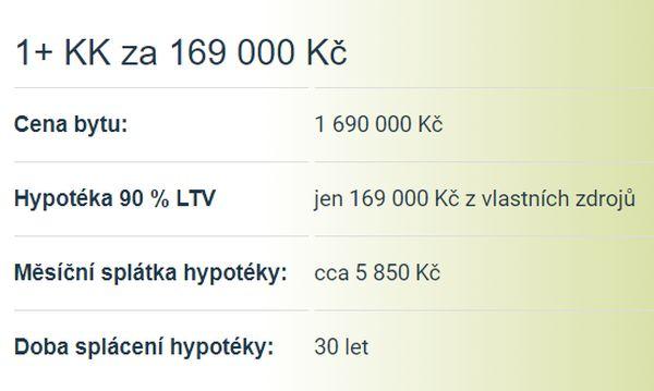 BYTY HEŘMANOVA HUŤ - FINANCOVÁNÍ 1+KK